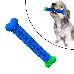 Зубная щетка игрушка-кость для чистки зубов у собак Сhewbrush