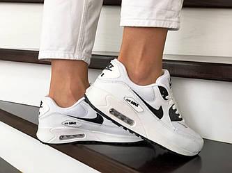 Кроссовки N1ke Air M@x 90   в стиле Ривал 90 белые