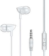 Наушники проводные Вакуумные с микрофоном гарнитура REMAX with mic Wired Earphone RW-106 HD Mic Белый