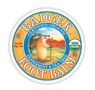 Badger Foot Balm-бальзам для сухого і потрісканих ступень і п'ят 56 гр