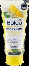 Крем для рук и ногтей с экстрактом лимона Balea Butter & Milk Lemon Handcreme 100 мл