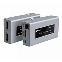 Комплект Extender удлинитель hdmi сигнала с IR до 60м по UTP/FTP кабелю  Dtech HDMI DT-7053