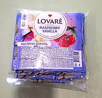 Чай Lovare малина-ваніль 50 пакетиків чорний
