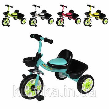 Трехколесный велосипед для самых маленьких TILLY DRIVE T-318 с EVA колесами, багажной корзиной (5 цветов)