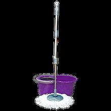 Набір для прибирання Planet Spin Mop Mini 14 л пурпурний