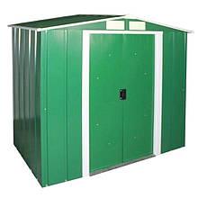 Сарай металевий ECO 202x122x181 см зелений з білим