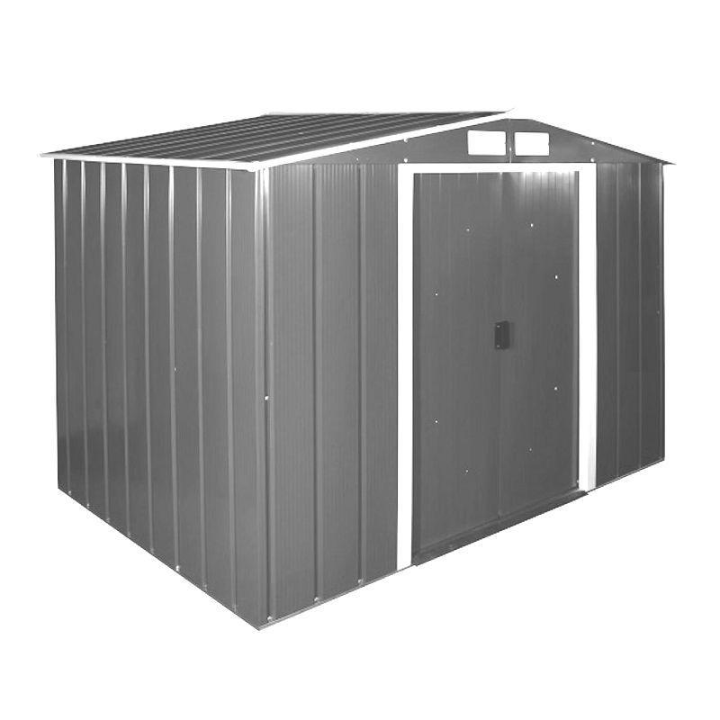 Сарай металевий ECO 320x302x196 см сірий з білим