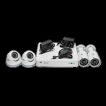 Комплект відеоспостереження GreenVision GV-K-S17/04 1080P