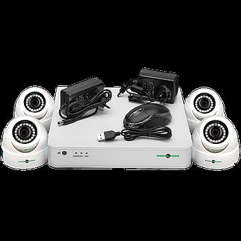 Комплект відеоспостереження GreenVision GV-K-S12/04 1080P
