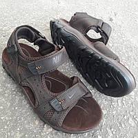 Сандалии мужские кожаные р.42 коричневые Nike