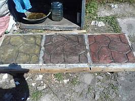 Набор добавок для печатного бетона на 50 кв м кирпичный (топпинг-краситель, разделитель, добавки в бетон, лак)
