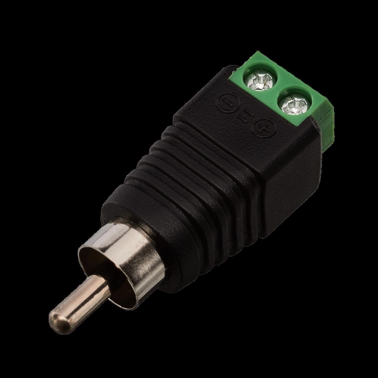 Коннектор для передачи аудио и видеосигнала Green Vision GV RCA/M (male) (1уп =10шт)