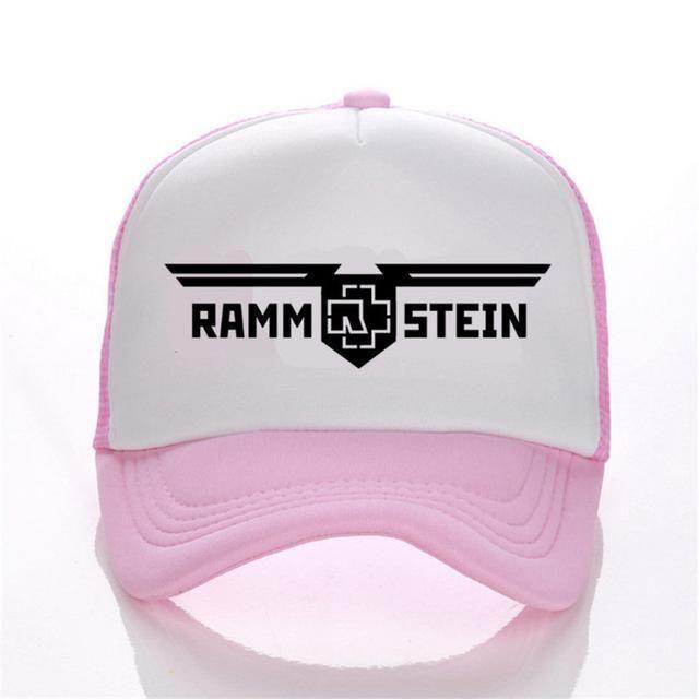 Кепка Тракер Rammstein Рамштайн Розовая