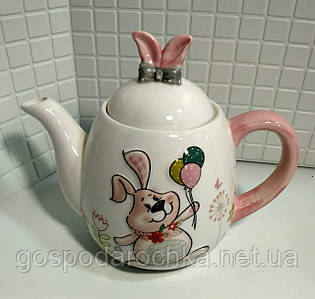 """Чайник керамический Bonadi """"Веселый кролик"""" 1л DM140-E"""