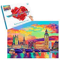 """Картина по номерам """"Красочный Лондон"""" 40- 50см KpN-01-08U"""