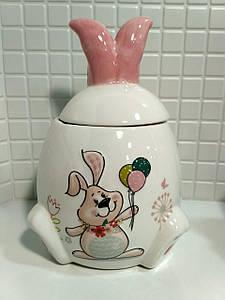 Банка керамическая 450 мл Веселый кролик BonaDi DM153-E