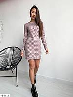 Облягаюче короткий жіноче плаття по фігурі трикотажний довгий рукав р-ри 42-48 арт.1010