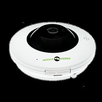 БО Купольна IP-камера GreenVision GV-076-IP-ME-DIS40-20 (360) POE (Ultra)
