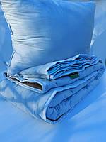 Комплект для односпального ліжка. Ковдра, наматрасник - наповнювач конопля, подушка лебяжий пух