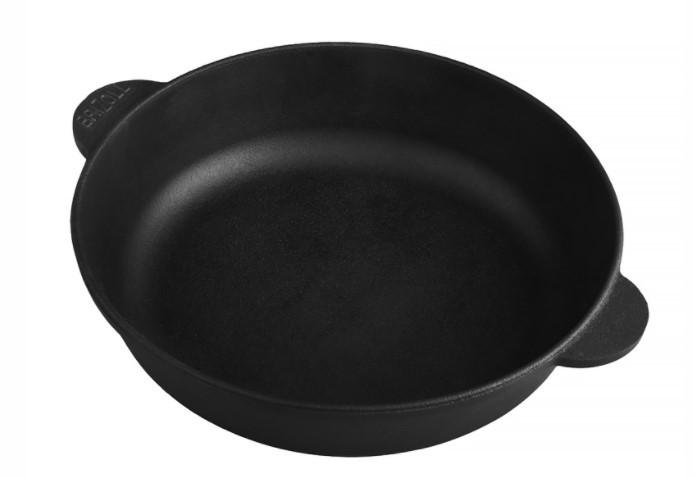 Сковорода чавунна без ручки Brizoll жаровня 260х60 мм Бризол