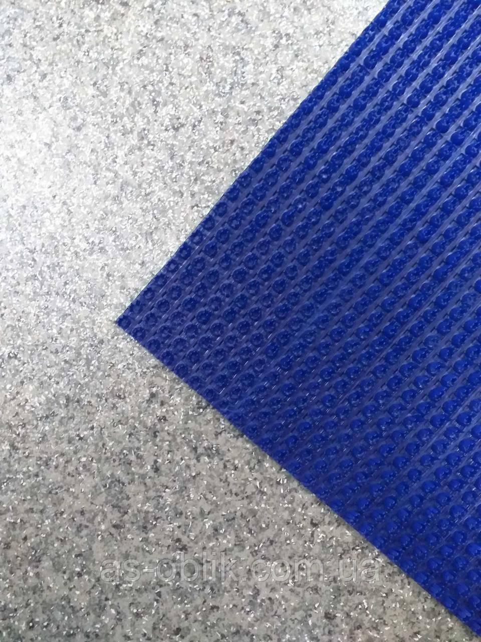 Покрытие щетинистое синее