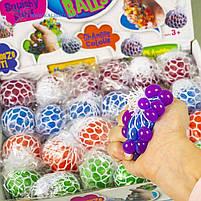 Іграшки антистрес Мізки в сітці неон, фото 2