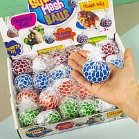 Іграшки антистрес Мізки в сітці неон, фото 3