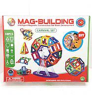 Детский магнитный конструктор Mag-Magnet на 59 детали, фото 1