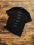 Футболка мужская 2XL(р) черная 1001-20 Jordan Турция Лето-C, фото 2