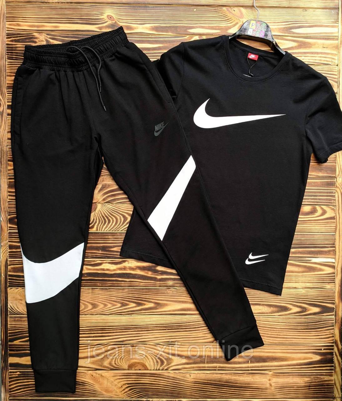 Футболка чоловіча 3XL(р) чорна 1016-20 Nike Туреччина Літо-C