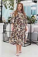 Женское коттоновое платье большого размера.Размеры:50/60+Цвета, фото 1