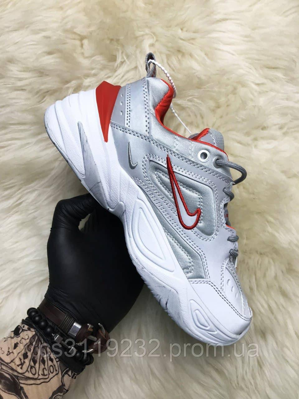 Мужские кроссовки Nike M2K Tekno Silver Reflective (серебро)
