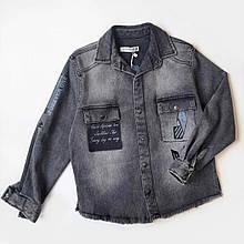 Джинсова сорочка вітровка для хлопчика Туреччина р. 116