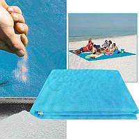 Пляжный коврик АнтиПесок Большой размер 200х200 Покрывало пляжное подстилка