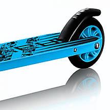 Трюкової двоколісний сталевий дитячий самокат для підлітків SportVida Ravage Black/Blue, фото 2