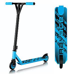 Трюкової двоколісний сталевий дитячий самокат для підлітків SportVida Ravage Black/Blue