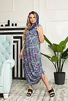 Женское летнее платье-сарафан,ткань вискоза, р-р 46,48,50,52,54,56,58, голубок узор