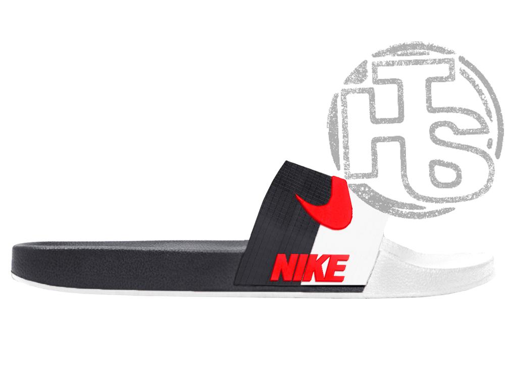 Мужские шлепанцы Nіkе Sport Slide Black/White/Red ALL05803