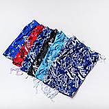 Мужские бриджи (плащевка), цвета синий с голубым, фото 5