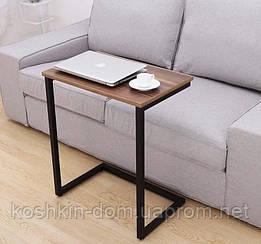 Приставний столик у стилі Лофт Loft, 700х500х300мм Woodin