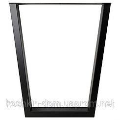 Опора в стилі Лофт Loft OP-0273 Чорна Woodin 730х630мм