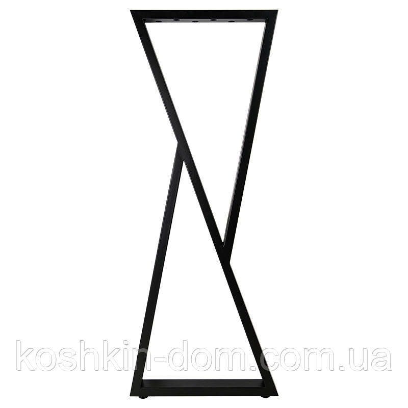 Опора барная в стиле Лофт Loft OP-1611 Черная Woodin 1100x400мм