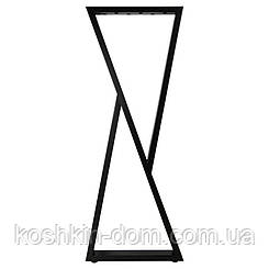 Опора барна в стилі Лофт Loft OP-1611 Чорна Woodin 1100х400мм
