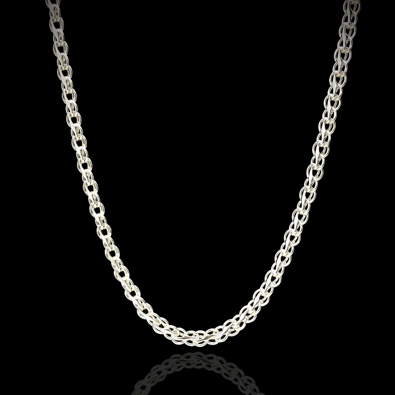 Срібна ланцюжок, 450мм, 7 грамів, плетіння Струмок