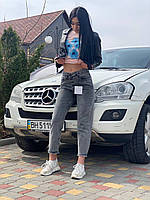 Джинси фабричні жіночі розміри 25-30, сірого кольору, фото 1