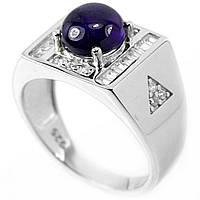 Серебряное кольцо с сапфиром, 1678КА