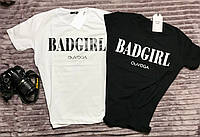 Футболка женская трикотажная для девушек Bad Girl размер норма 42-46, цвет уточняйте при заказе, фото 1