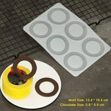 """Формочка для шоколада """"Круги"""" - размер молда 19,4*13,4см, пищевой силикон"""
