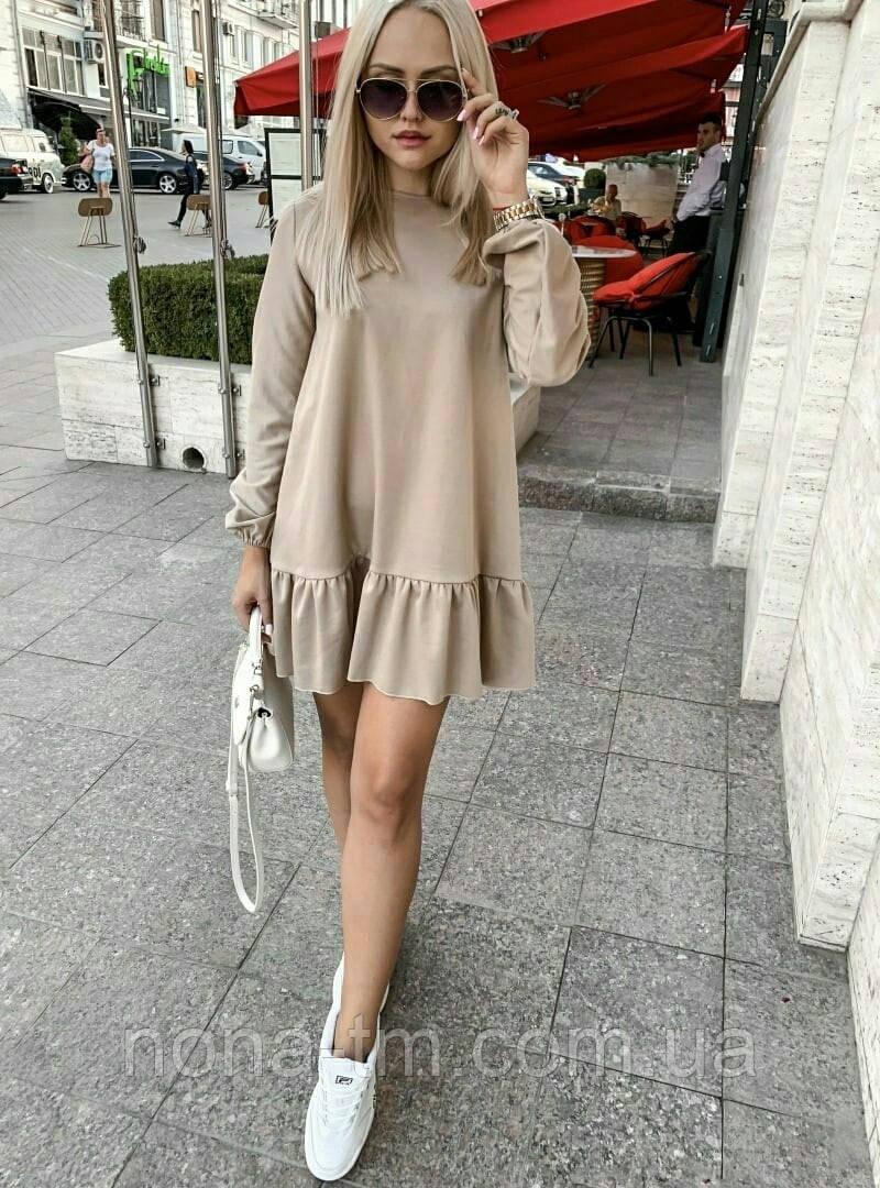 Короткое платье женское трикотаж