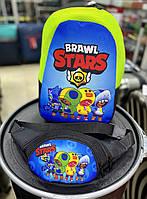 Набір рюкзак Бравл Старс +бананка Бравл Старс для дітей і підлітків